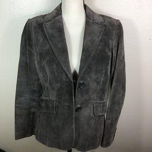 EUC- Ann Taylor Suede Leather Jacket